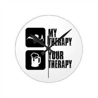 thriathlon mis diseños de la terapia reloj redondo mediano