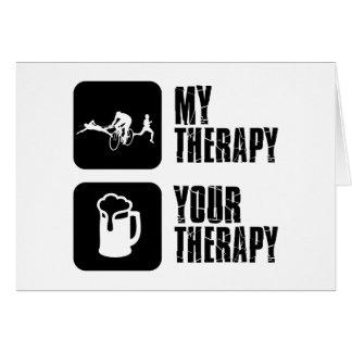 thriathlon mis diseños de la terapia tarjeta de felicitación