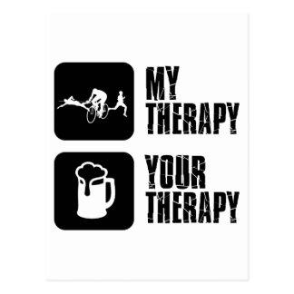 thriathlon mis diseños de la terapia tarjetas postales