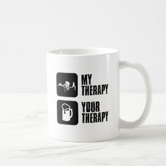 thriathlon mis diseños de la terapia taza básica blanca
