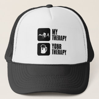 thriathlon my therapy designs trucker hat