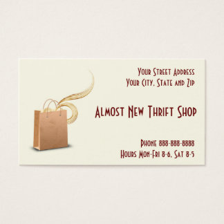 Thrift Shop Second Hand Store Business Card