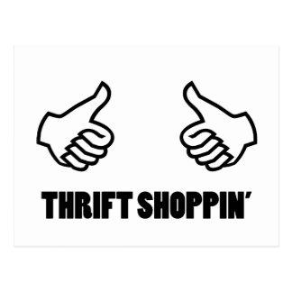 Thrift Shopping Postcard
