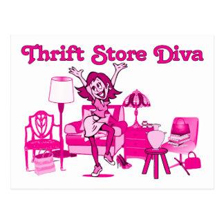 Thrift Store Diva Postcard