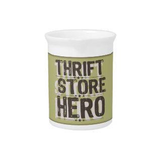 Thrift Store Hero Drink Pitcher