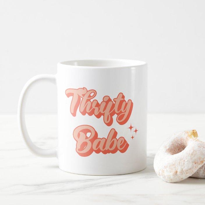 Thrifty Babe Retro Coffee Mug Zazzle Com