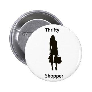 Thrifty shopper pins