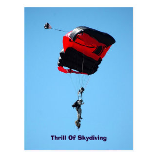 thrill Of Skydiving postcard