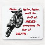 Thrill of Speed - Dirt Bike Motocross Mousepad