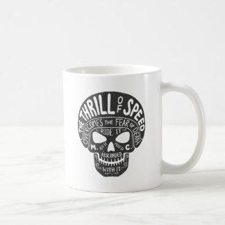 Thrill of Speed Skull Coffee Mug