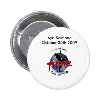 Thrill The World Ayr, Scotland Official Button