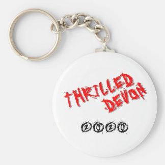 Thrilled Devon Keyring - White Keychain