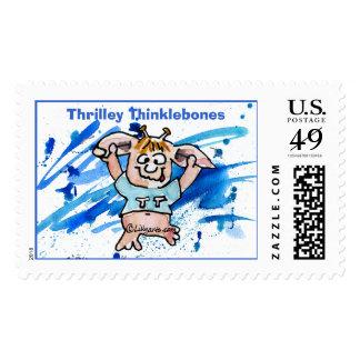 Thrilley Thinklebones Custom Postage Stamps
