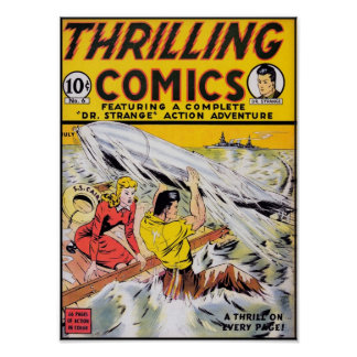 Thrilling Comics #6 Poster