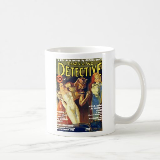 Thrilling Detective Oct. 1937 Coffee Mug