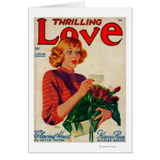 Thrilling Love Magazine Cover Greeting Card
