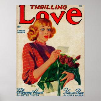 Thrilling Love Magazine Cover Poster