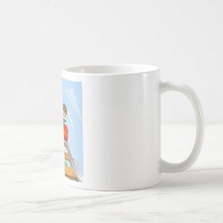 Thrilling roller coaster ride coffee mug