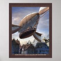 "Thrilling Tales: Finnegan's Airship (22x28"") Poster"