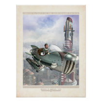 """Thrilling Tales: Gwen in Her Hepmobile (18x24"""") Poster"""