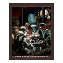 "Thrilling Tales: Late Night at the Diner  (22x28"") Poster"