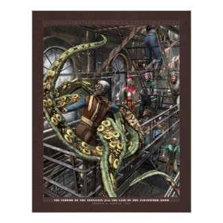 """Thrilling Tales: Terror of the Tentacles (22x28"""") Poster"""