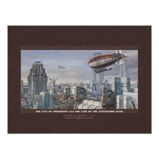 Thrilling Tales The City of Tomorrow 24x18 Poster