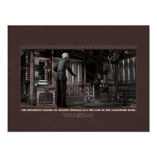 "Thrilling Tales: The Difference Engines (24x18"") Poster"