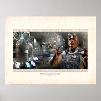 "Thrilling Tales: Zeno's Machine Room (24x18"") Poster"