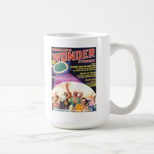 THRILLING WONDER Cool Vintage Pulp Magazine Cover Mugs