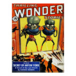 THRILLING WONDER Cool Vintage Pulp Magazine Cover Poster