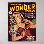 Thrilling Wonder Stories -- Dancing Girl Poster