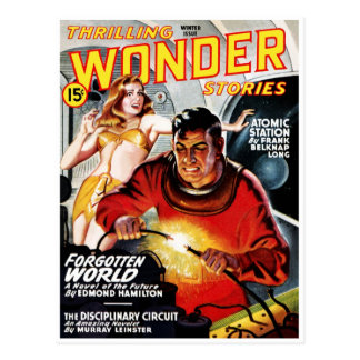 Thrilling Wonder Stories Forbidden World Postcard