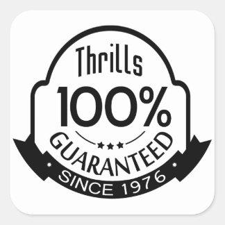 Thrills Guaranteed Square Sticker