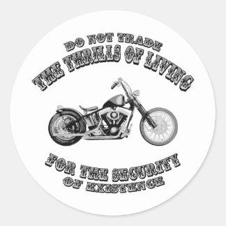 Thrills of Living Classic Round Sticker