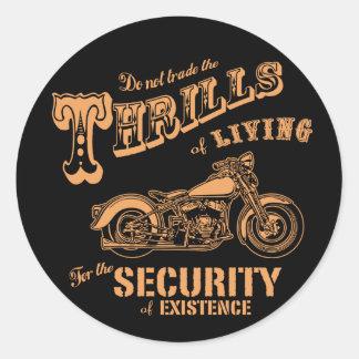 Thrills of Living II Classic Round Sticker