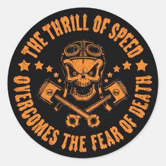 Thrills Overcome Fear Classic Round Sticker