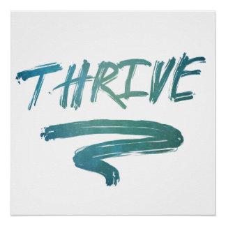 Thrive Brush Digital Art Poster