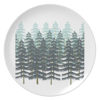 THRIVE IN FOREST MELAMINE PLATE