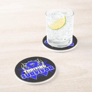Thriving Anal Cancer Survivor Beverage Coasters