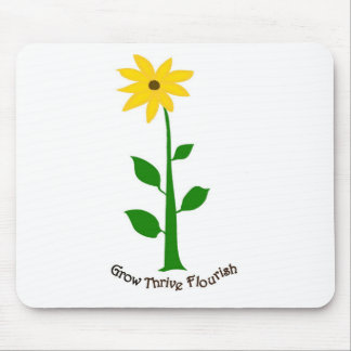 Thriving flower mouse pad