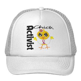 Throat Cancer Activist Chick Mesh Hats