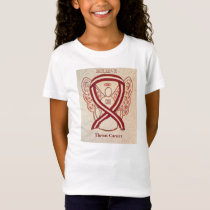 Throat Cancer Awareness Ribbon Angel Custom Shirt