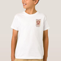 Throat Cancer Awareness Ribbon Angel Custom Tee