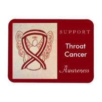 Throat Cancer Awareness Ribbon Angel Magnets