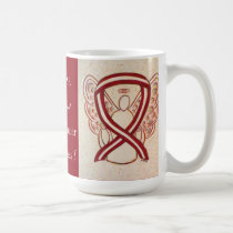 Throat Cancer Awareness Ribbon Angel Mug