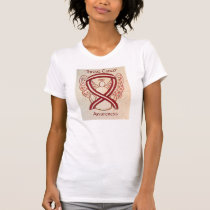 Throat Cancer Awareness Ribbon Angel Shirt