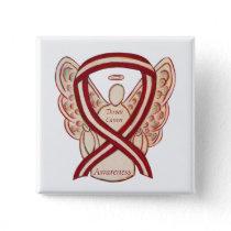 Throat Cancer Awareness Ribbon Stripes Angel Pins