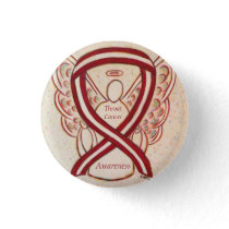 Throat Cancer Awareness Ribbon Stripes Angel Pins
