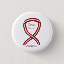 Throat Cancer Awareness Ribbon Stripes Custom Pins
